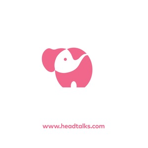 Medium head talks logo pink