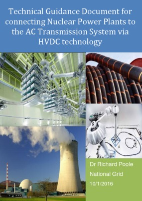 Technical guidance document for connecting nuclear power plants by HVDC