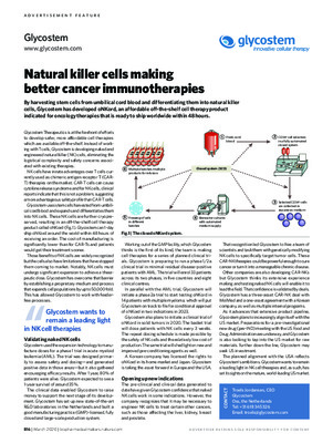 Natural killer cells making better cancer immunotherapies