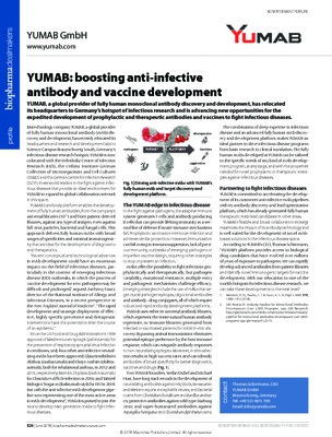 YUMAB: boosting anti-infective antibody and vaccine development