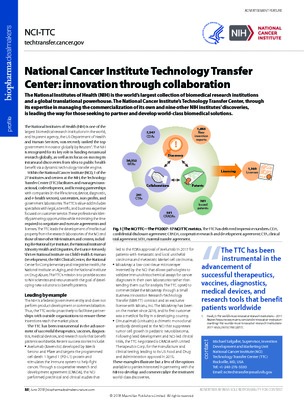 National Cancer Institute Technology Transfer Center: innovation through collaboration