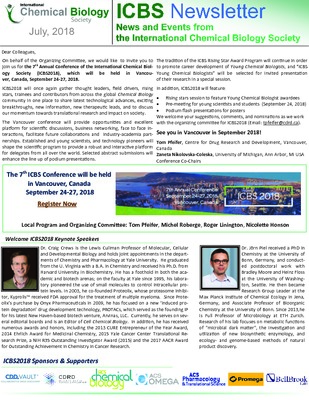 ICBS Newsletter: July 2018