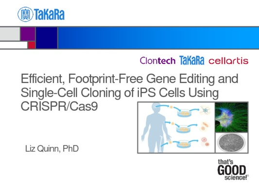 Efficient, Footprint-Free Gene Editing and Single-Cell Cloning of iPS Cells Using CRISPR/Cas9