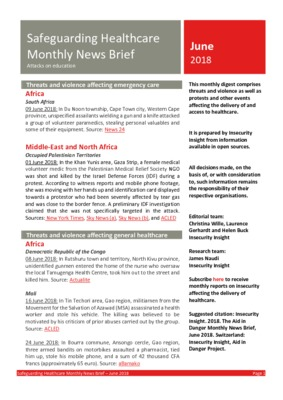 Safeguarding Healthcare June 2018 | Monthly News Brief