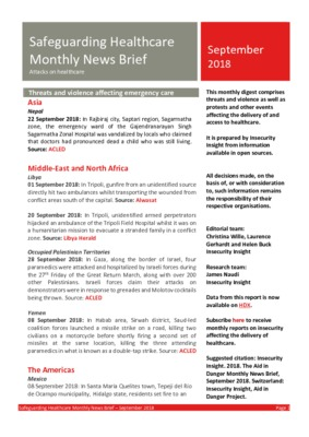 Safeguarding Healthcare September 2018 | Monthly News Brief