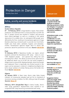 Protection in Danger  February 2019 | Monthly News Brief