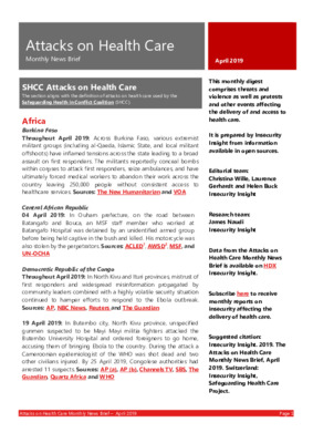 Attacks on Health Care April 2019 | Monthly News Brief