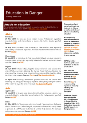 Education in Danger May 2019 | Monthly News Brief
