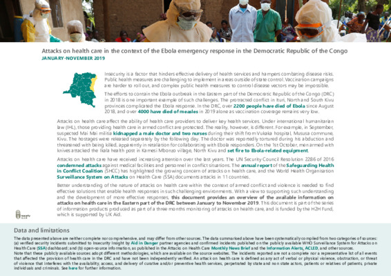 Overview: Attacks on Health Care in the DRC