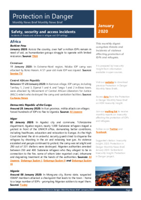 Protection in Danger January 2020 | Monthly News Brief