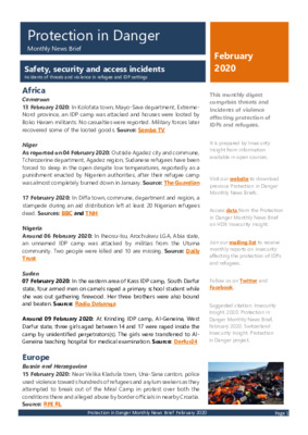 February 2020 Protection in Danger | Monthly News Brief