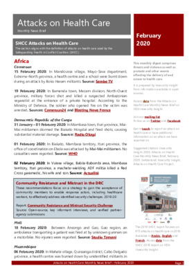 February 2020 Attacks on Health Care | Monthly News Brief