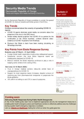 Bulletin 2: Security Media Trends DRC North Kivu