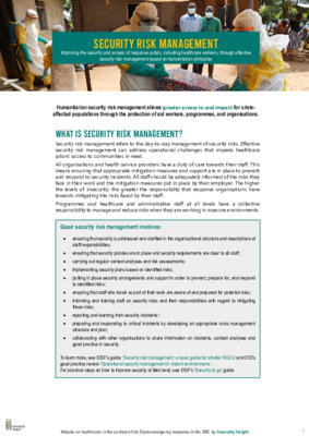 Introduction to Security Risk Management