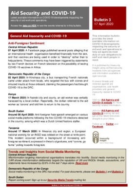 Bulletin 3 Aid Security and COVID-19
