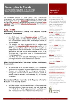 Bulletin 4 | Security Media Trends in DRC