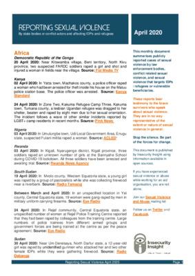 Reporting Sexual Violence   April 2020