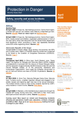 Protection in Danger April 2020 | Monthly News Brief