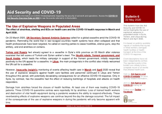 Bulletin 6 | Aid Security and COVID-19