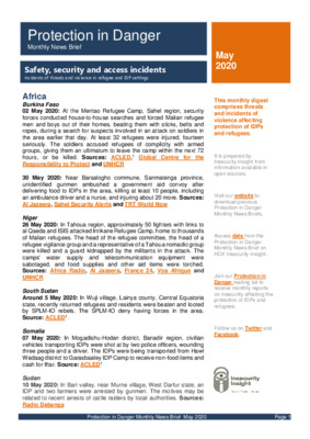 Protection in Danger May 2020 | Monthly News Brief
