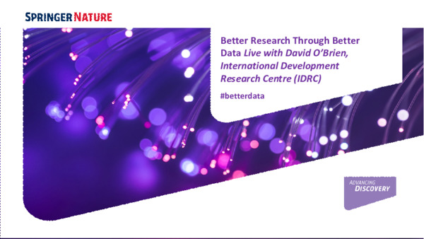 Presentation: Better Research Through Better Data Live with the International Development Research Centre (IDRC)
