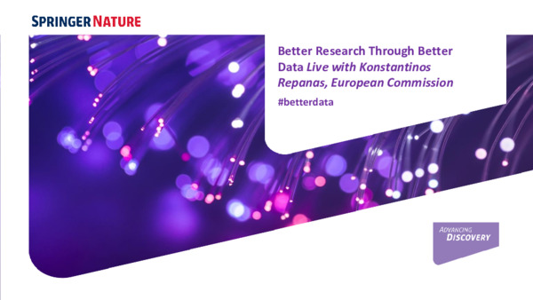 Presentation: Better Research Through Better Data Live with the European Commission
