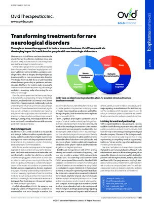 Transforming treatments for rare neurological disorders