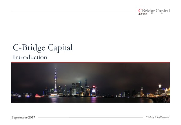 C-Bridge Capital Brief Introduction - 01 Oct 2017