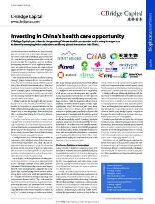 Investing in China's health care opportunity