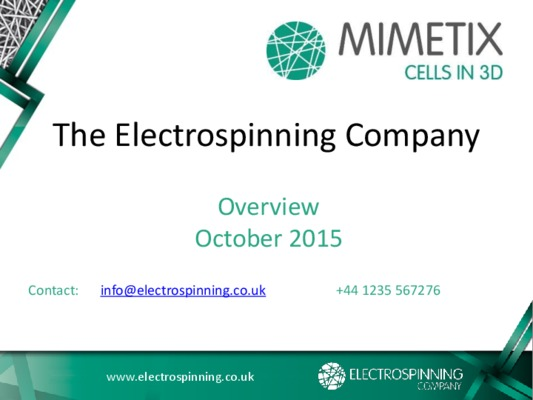 The Electrospinning Company Ltd