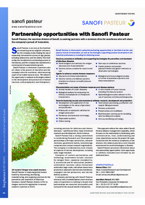 Partnership opportunities with Sanofi Pasteur