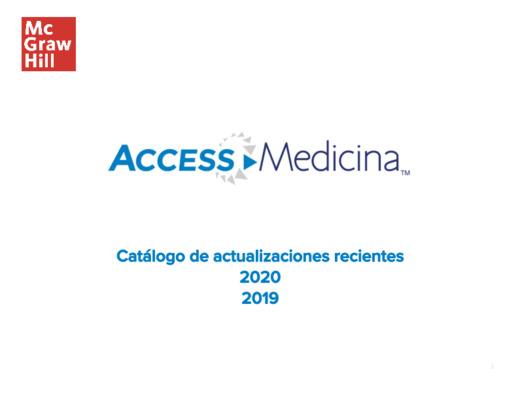 Actualizaciones recientes en AccessMedicina