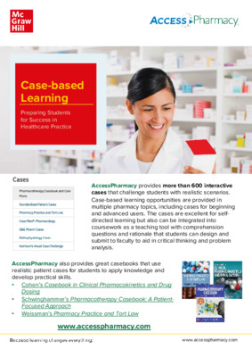 Case-based Learning and Instructor Resources - AccessPharmacy