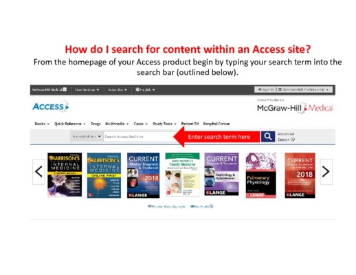 How do I search for content?