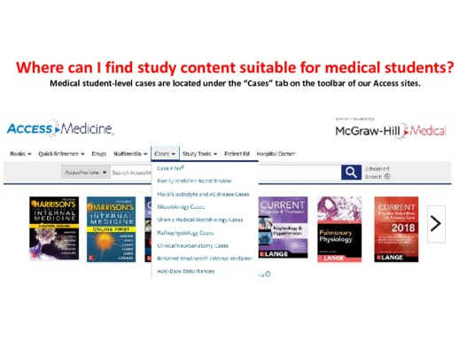 Where can I find study content suitable for medical students?