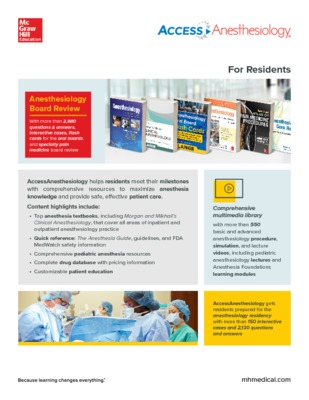 AccessAnesthesiology Flyer - Residents