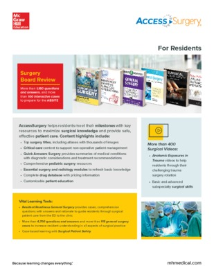 AccessSurgery Flyer - Residents
