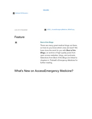 AccessEmergency Medicine - June, 2018