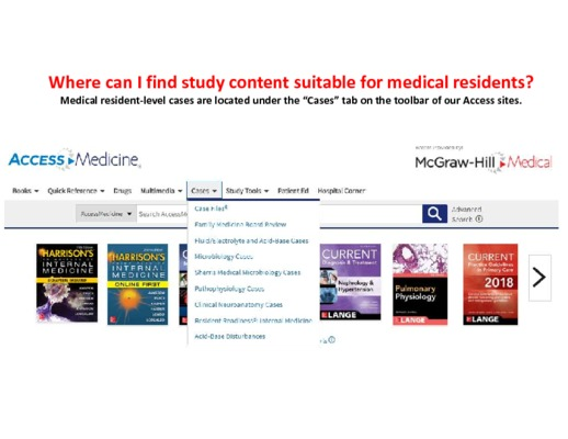 Residents - Where can I find study content?