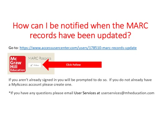 MARC records notifications