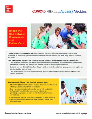 Clinical Prep Flyer