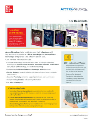 AccessNeurology Flyer for Residents