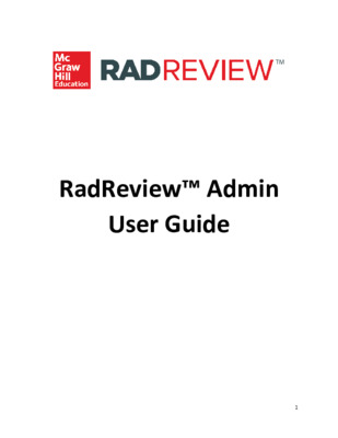 Admin User Guide - RadReview