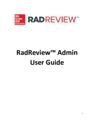 Admin User Guide - RadReview