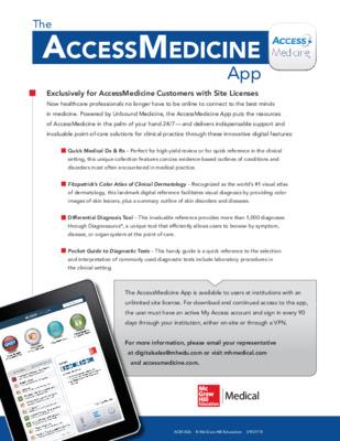 AccessMedicine App Flyer
