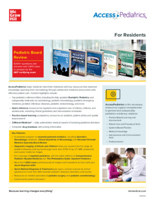 Resident Flyer - AccessPediatrics