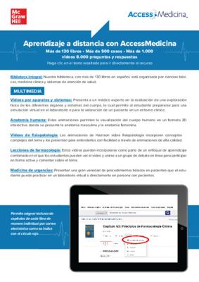 Guía de recursos en línea con AccessMedicina es LATAM