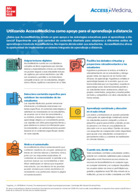 AccessMedicina Distance Learning Flyer LATAM