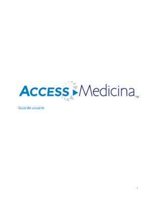 Guía de usuario - AccessMedicina
