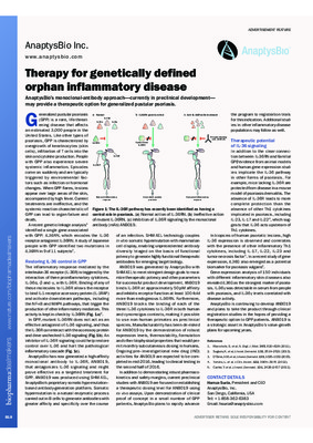 Therapy for genetically defined orphan inflammatory disease